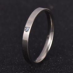 Đồ trang Sức thời trang Zirconia Cổ Điển Wedding Ring Đối Với phụ nữ hoặc đàn ông Eternity Tình Yêu 316L Thép Không Gỉ Nhẫn Quà Tặng Không Bao Giờ Phai nj201