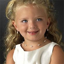 Pearl Illusion Flower Girl Child Jewelry Set