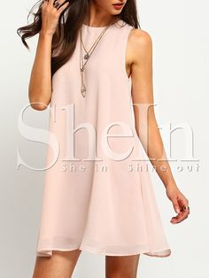 Shop Buttoned Keyhole Back Swing Tank Dress online. SHEIN offers Buttoned Keyhole Back Swing Tank Dress & more to fit your fashionable needs.Buttoned Keyhole Back Swing Tank Dress Pink Round Neck Tunic Dress Woman Tank Shift Sleeveless Short DressMat Designer Party Dresses, Party Dresses For Women, Casual Dresses For Women, Trendy Outfits, Summer Dresses, Summer Outfits, Modest Dresses, Cute Dresses, Short Dresses