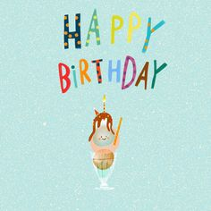 Leading Illustration & Publishing Agency based in London, New York & Marbella. Birthday Tree, Happy Birthday Text, Happy Birthday Wishes, Girl Birthday, Icecream, Cards, Happy Anniversary Wishes, Gelato, Playing Cards