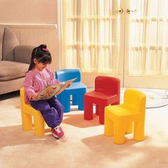 Rainbow Chairs for $39.96 #littletikes