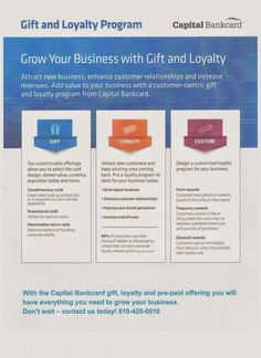 Grow Your Business with Gift and Loyalty Program from Capital Bankcard Temple. | Mobile Credit Card Processing,Credit Card Processing Online Services