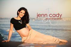 Maternity Beach photos by Charleston, SC photographer, Jenn Cady