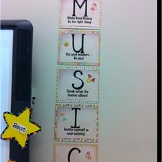 Music classroom rules to go with Kodaly hand signs
