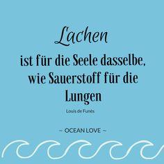 Lachen ist für die Seele dasselbe, wie Sauerstoff für die Lungen.  | Sprüche | Zitate | schöne | lustig | Meer | Ozean | Wanderlust | Reisen | Travel | Journey | Inspiration | Meerweh | Ocean Love | Motivation | Quotes #lachen #sprüche #nachdenklich #schön #seele She Quotes, Wall Quotes, Motivational Quotes, Inspirational Quotes, Travel Love Quotes, Latin Quotes, Long Distance Relationship Quotes, Quotes About Strength, Positive Vibes
