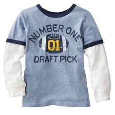 Carter's Mock-Layer Number One Draft Pick Tee - Boys size 6