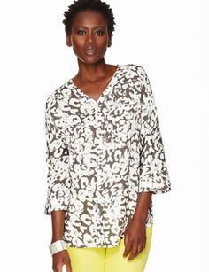 The Limited - Printed Button-Down Blouse