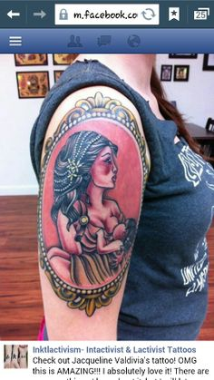 Gorgeous breastfeeding tattoo