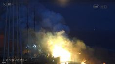 The extnet of the damage on Pad0-A at the Mid-Atlantic Regional Spaceport (MARS) in Virginia. Photo Credit: NASA TV