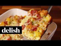 Ψωμί με αυγά τυρί και ζαμπόν στο φούρνο (Video) | Συνταγές - Sintayes.gr
