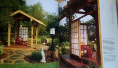 """Gazebo Concept, for jacuzzi.  From Better Homes and Gardens' """"Inside Out"""", pages 148 and 149 [thank you!]"""