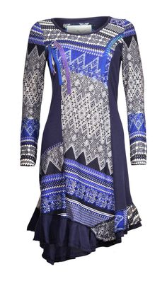 NEW JOE BROWNS BLUE ABSTRACT TERRIFIC TOPAZ TUNIC DRESS RRP £42.50 8 to 14