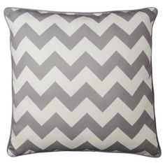 Room Essentials® Oversized Chevron Toss Pillow also in Gray Chevron Throw Pillows, Toss Pillows, Bed Pillows, Cushions, Pillow Room, Teal And Grey, Gray Chevron, Room Essentials, Living Room Grey