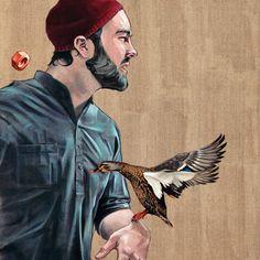 'Terassenvogel', Malerei von innerfields