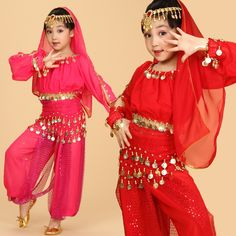 Girls Beautiful Belly Dance Costume Pants Dress Kids Belly Dancing Costumes Clothing Children Indian danza del vientre FC245