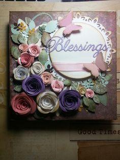 Hrrmoso cuadro. Flores de papel y cartulina. Demoré 5 dias... lo logré. Www.Facebook.com/latiendadesusu