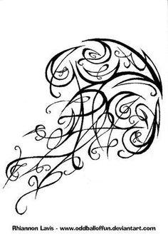 Tribal Jellyfish Tattoo