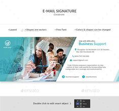 Buy E-Mail Signature by Doony on GraphicRiver. PSD File is fully layered and can easily be edited Shapes are vectors Colors and shapes can be changed without any lo. Signature Ideas, E Signature, Signature Design, Icon Design, My Design, Graphic Design, Email Signature Templates, Email Marketing Software, Email Signatures