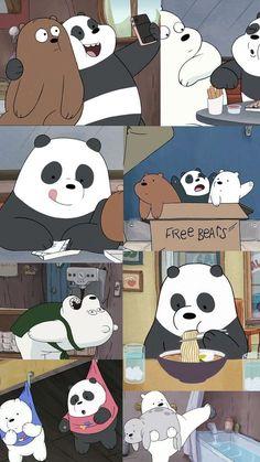 ozihaki Wallpaper HD New: Panda We Bare Bears Wallpaper Black Background Cute Panda Wallpaper, Cartoon Wallpaper Iphone, Bear Wallpaper, Cute Disney Wallpaper, Kawaii Wallpaper, Mobile Wallpaper, Wallpaper Backgrounds, We Bare Bears Wallpapers, Panda Wallpapers