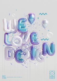 Design // 3D Type / Digital Art inspiration