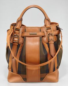 Vintage Check Large Tote by Burberry at Neiman Marcus.