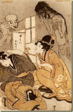 One Hundred Stories of Demons and Spirits - Kitagawa Utamaro - Ukiyo-e Japanese Artwork, Japanese Painting, Japanese Prints, Japanese Monster, Japanese Mythology, Art Japonais, Samurai, Geisha, Japan Art