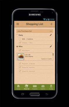 Coupons Android mobile application