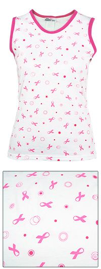 Pink Ribbon Confetti Tank Top at The Breast Cancer Site