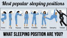 Popular sleeping positions, and what they might mean about you. Namely, that you're a hardcore Whovian.