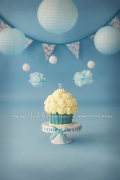I want this as the top layer on Braden's 1st Bday Cake, then we can take it off and he can have it as his smash cake.