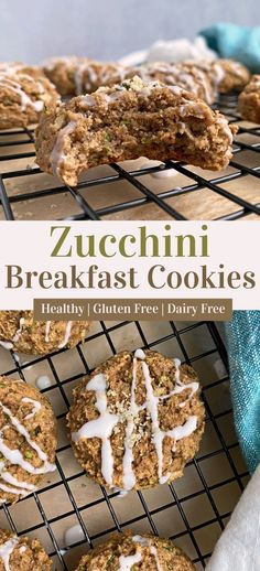 These healthy zucchini breakfast cookies are Paleo, Vegan and gluten free. This breakfast cookie recipe is only sweetened with banana, completely grain free, egg free and dairy free. Perfect for kids and toddlers. #breakfastcookies #zucchini #bananacookies Egg Free Recipes, Gluten Free Recipes For Breakfast, Gluten Free Breakfasts, Paleo Vegan, Vegan Baking, Vegetarian, Healthy Cookies, Gluten Free Cookies, Grain Free