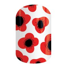 Red Poppy | Jamberry  See 300+ nail wrap designs and order at: https://jackieshaw.jamberry.com/us/en/