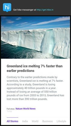 Greenland ice ❄ melting 7% faster than earlier predictions