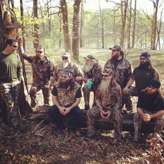 Duck Dynasty men in the woods