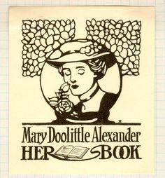 ≡ Bookplate Estate ≡ vintage ex libris labels︱artful book plates -
