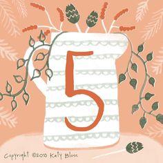 Katy Bloss Illustrated Advent Calendar Day 5