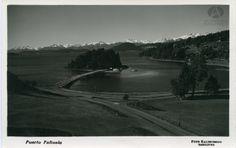 Vista de Puerto Pañuelo y Lago Nahuel Huapi desde el Hotel Llao Llao, Foto G. Kaltschmidt, Ca. 1940 (Colección Kaltschmidt en Archivo Visual Patagónico)
