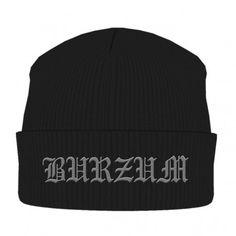 Burzum: Logo (caciula) Beanie, Ski Hats, Things To Buy, Stuff To Buy, Metalhead, Band Tees, All Brands, Black Knit, Logos