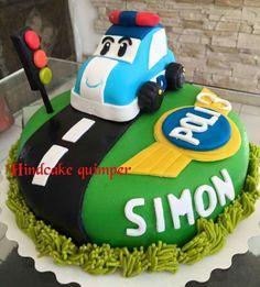 Robocar poli cake fondant