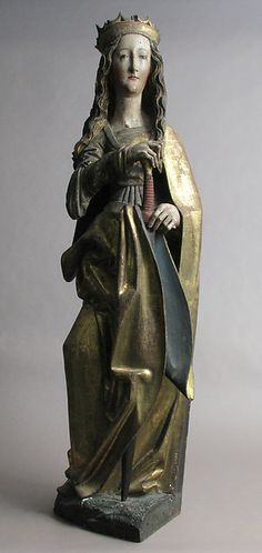 Saint Catherine -- 15th-16th Centuries -- German, Franconia -- Limewood w/ paint & gilding -- The Metropolitan Museum of Art