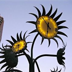 Sunflower Clocks