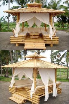 Bamboo Gazebo with Furniture House Design 25 Amazing Ideas with Bamboo Bamboo Art, Bamboo Crafts, Bamboo Ideas, Woodworking Furniture, Woodworking Plans, Woodworking Crafts, Woodworking Classes, Woodworking Shop, Youtube Woodworking