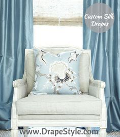 You've decided on having custom drapes made, congratulations! Read more to find out what sets DrapeStyle apart from other retailers. Bed Drapes, Silk Drapes, Drapes And Blinds, Velvet Curtains, Custom Drapes, Custom Pillows, Beautiful Curtains, House Windows, Cool Beds