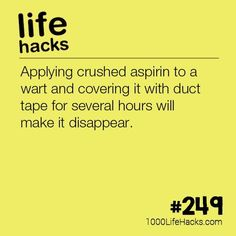The post #249 – How To Make a Wart Disappear appeared first on 1000 Life Hacks.