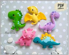 Toys Patterns winnie the pooh Felt pattern dinosaur Easy PDF pattern dinosaur felt Sewing pattern Dinosaurs felt pattern Cute dinosaur pattern DIY dinosaur ornament Dinosaur Pattern, Cute Dinosaur, Dinosaur Toys, Dinosaurs, Dinosaur Crafts, Felt Animal Patterns, Stuffed Animal Patterns, Felt Crafts Diy, Felt Diy