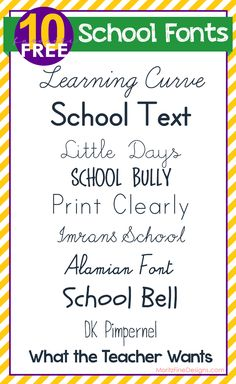 free FONT friday | school's out! celebrate with free  SCHOOL FONTS