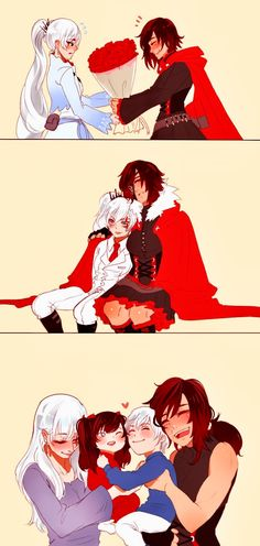 RWBY is ruby a boy in this ! Nope RWBY is ruby a boy in this ! Rwby Anime, Anime Girlxgirl, Rwby Fanart, Yuri Anime, Anime Art, Anime Kiss, Red Like Roses, White Roses, Rwby White Rose