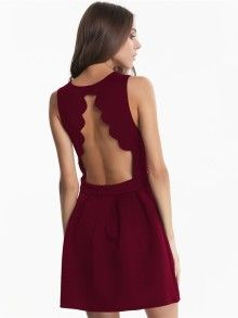 Sleeveless Backless Pleated Wine Red Dress, get yourself one for going out! *affiliate link*