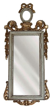 What a fabulous mirror! This highly ornate mirror features stunning scroll and floral detailing around the edge. Would be a great mirror for the entrance, hall, or wherever you need a decorative element! <BR><BR>This product is produced with a special resin/pecan shell wood mix. We use the finest mirror glass. This glass must meet our strict quality standards. <br><br> Absolutely gorgeous for your home decor!  <BR><BR> • Resin/Pecan Shell Wood Mix<br> • Available in Antique Gold, Aged Red…
