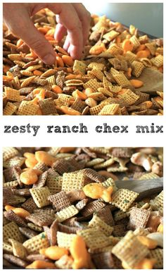 Zesty Ranch Chex Mix...this stuff is so addicting!!